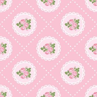 Chique gasto rosa sem costura padrão