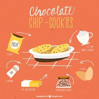 Chocolate chip-biscoitos receita
