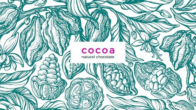 Chocolate natural tropical e bebida aromática
