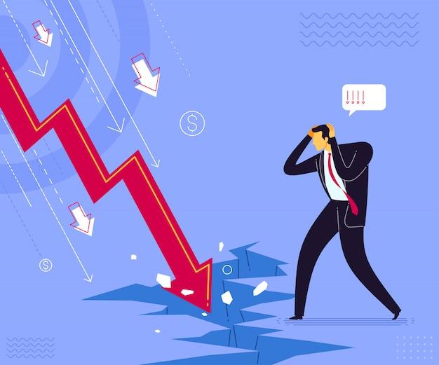 Choque de falha de negócios