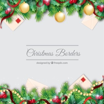 Christmas borders set decorationb