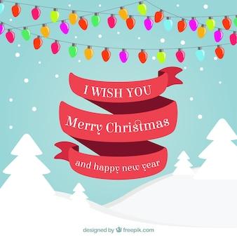 Christmast e cumprimentos do ano novo
