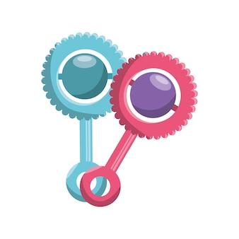 Chupetas bebê isolado ícone vector ilustração design