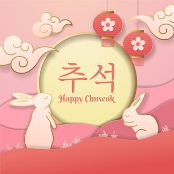 Chuseok em estilo de papel