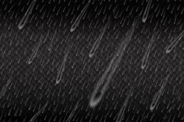 Chuva de água isolada realista.