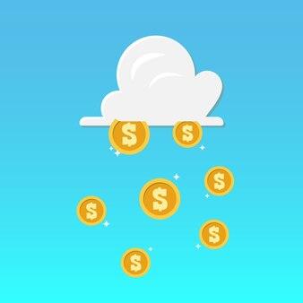 Chuva de nuvens e dinheiro