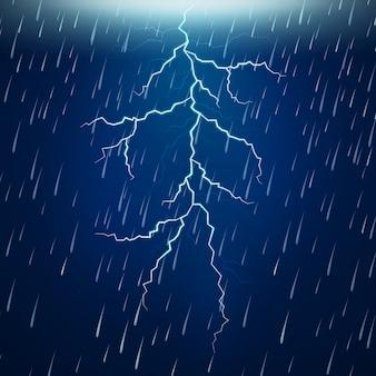 Chuva forte e trovoada à noite