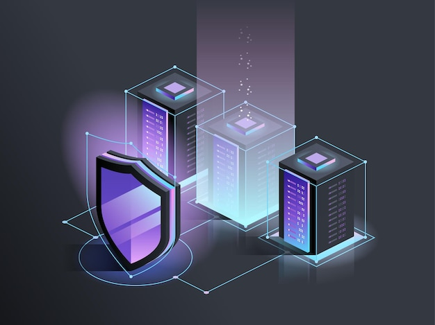 Cibersegurança proteção segurança de rede e conceito de dados seguros crime digital hacker anônimo