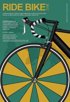 Ciclismo poster design template ilustração vetor