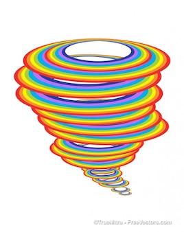 Ciclone fundo colorido do arco-íris