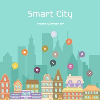 Cidade com ícones