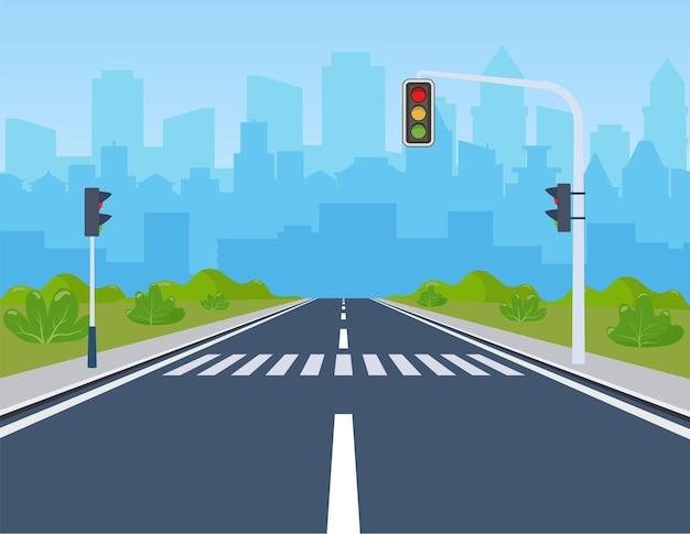 Cidade com semáforo