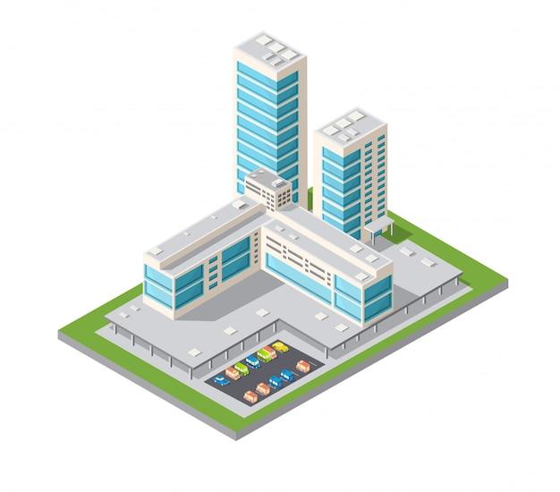 Cidade de design urbano de arranha-céus