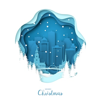 Cidade de detroit nevado