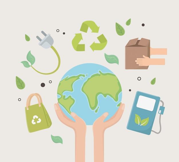 Cidade de eco e salvar o design do planeta