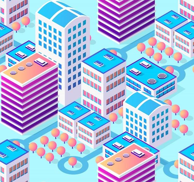 Cidade de ilustração de arquitetura para perfeita