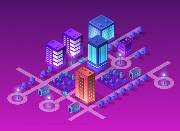 Cidade de ilustração do conceito