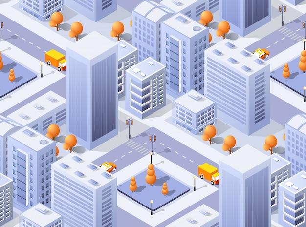 Cidade de ilustração vetorial arquitetura