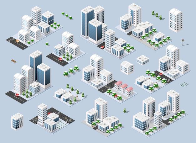 Cidade de inverno tridimensional da cidade