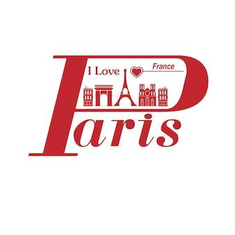 Cidade de paris. viagem pelo país.