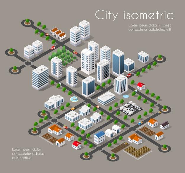 Cidade de transporte 3d