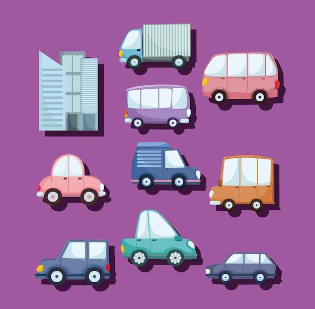 Cidade de transporte de veículos