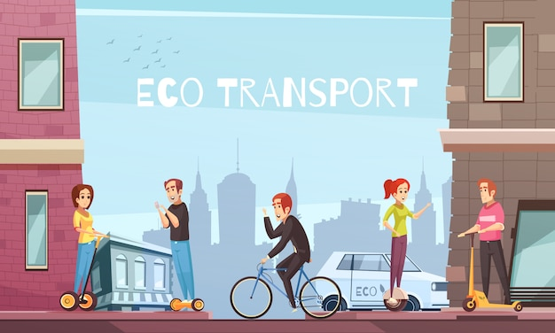 Cidade de transporte ecológico individual