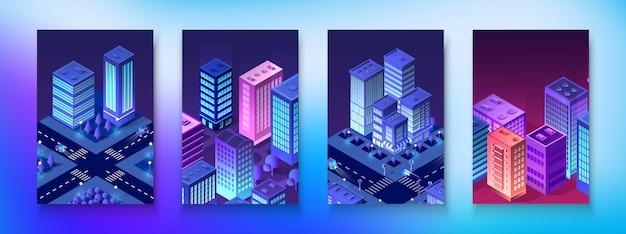 Cidade do módulo conjunto isométrica