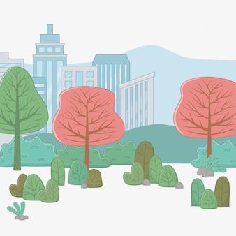 Cidade e plantas