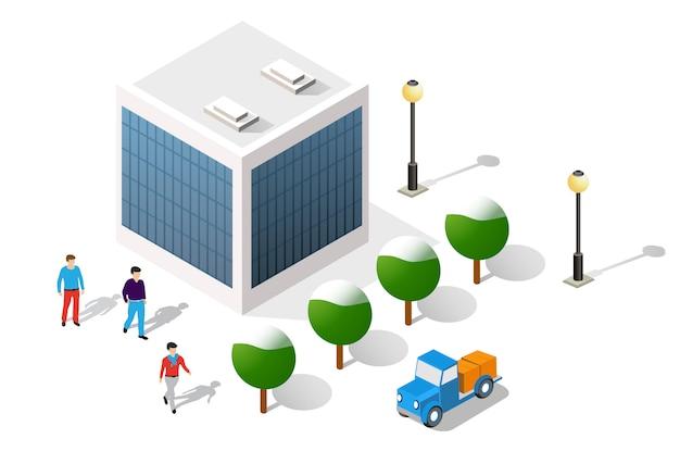 Cidade em ilustração de estoque vetor design branco