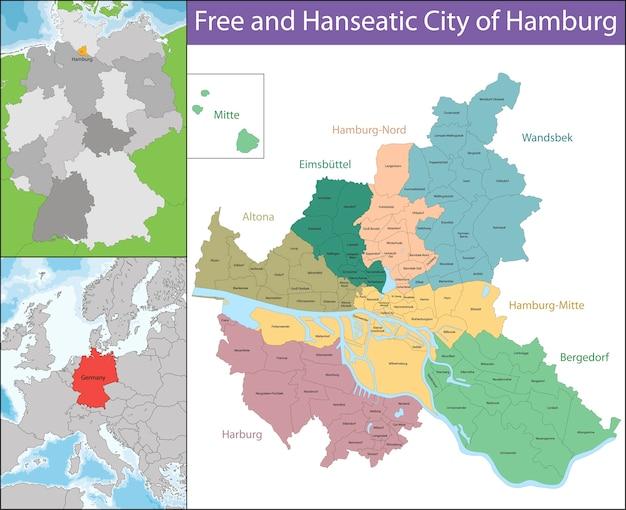Cidade hanseática gratuita de hamburgo