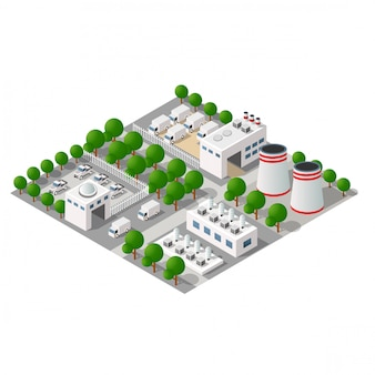 Cidade industrial manufaturada
