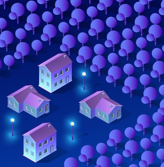 Cidade inteligente de ultravioleta
