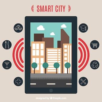 Cidade inteligente e um dispositivo