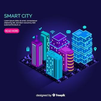 Cidade inteligente isométrica