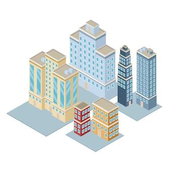 Cidade isométrica 3d