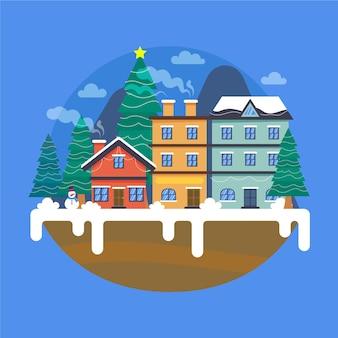 Cidade natal em design plano