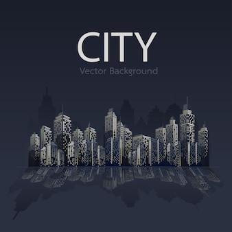 Cidade no fundo da noite