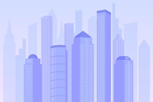 Cidade urbana - cenário para videoconferência
