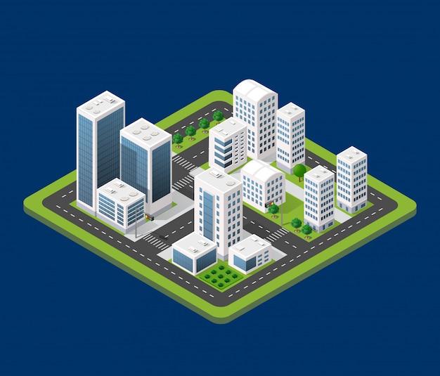 Cidade urbana isométrica