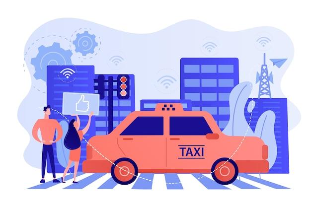 Cidade usando tecnologias de sistema de transporte inteligente