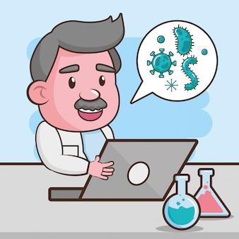 Ciência de laboratório científico