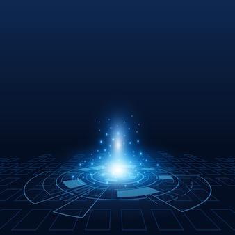 Ciência futurista tecnologia de fundo vector