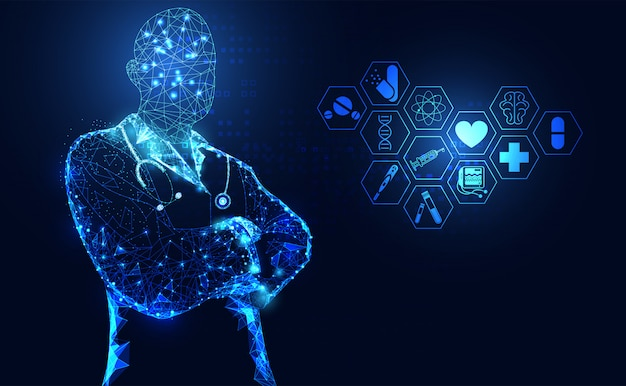 Ciência médica abstrata de saúde