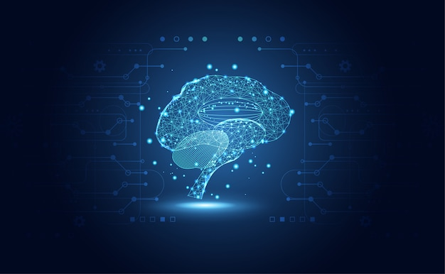 Ciência médica de saúde abstrata consiste em cérebro digital