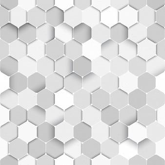 Ciência tecnológica vector hexagonal padrão sem emenda