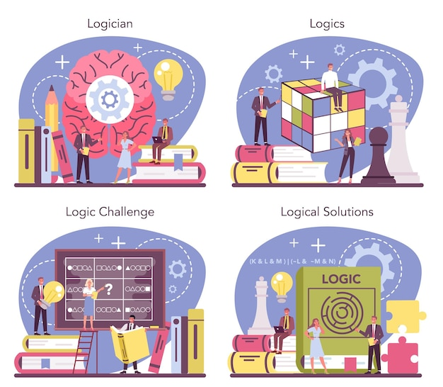 Cientista que estuda sistematicamente desafios e soluções lógicas