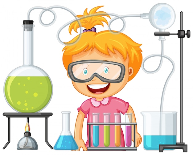 Cientista que trabalha com ferramentas científicas em laboratório