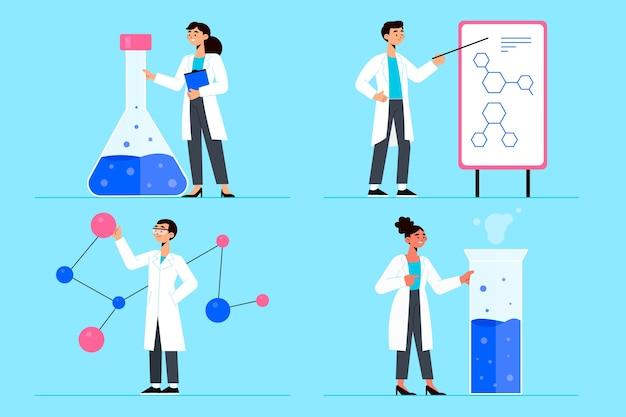 Cientistas que trabalham o conceito