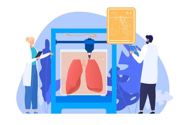 Cientistas reproduzem órgãos humanos em um dprinter por bioengenharia o conceito de medicina futurista